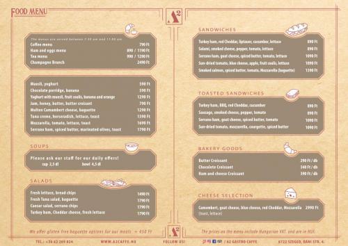 FOOD MENU 1. page