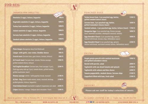 FOOD MENU 2. page